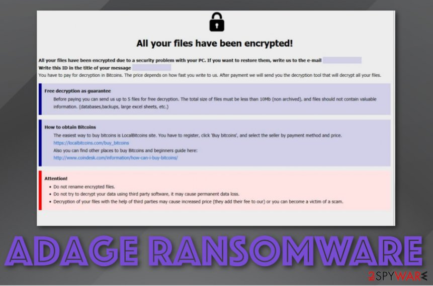 Adage ransomware virus
