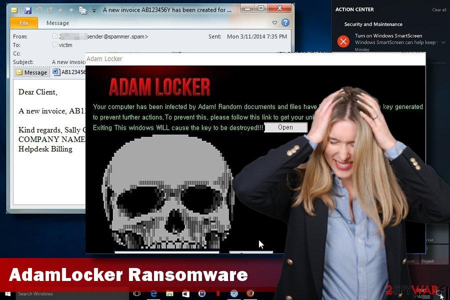 AdamLocker ransomware removal