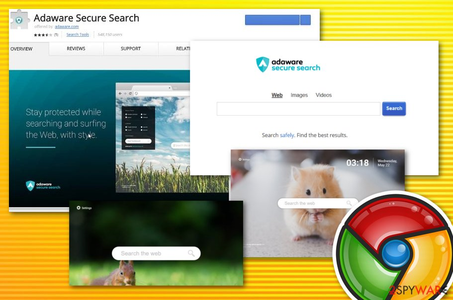 Adware secure search virus