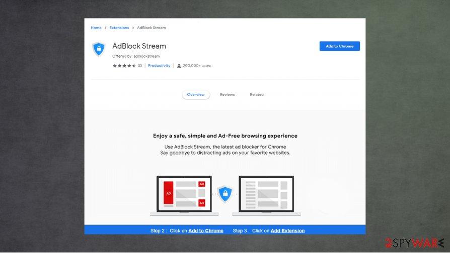 AdBlock Stream virus