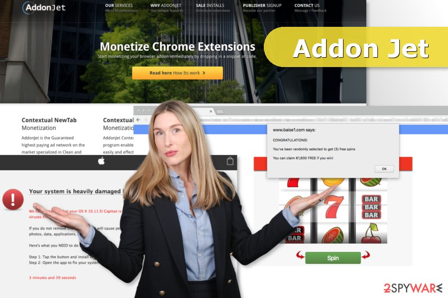 The illustration of AddonJet adware