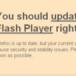 Adobe Flash Player Packages pop-up