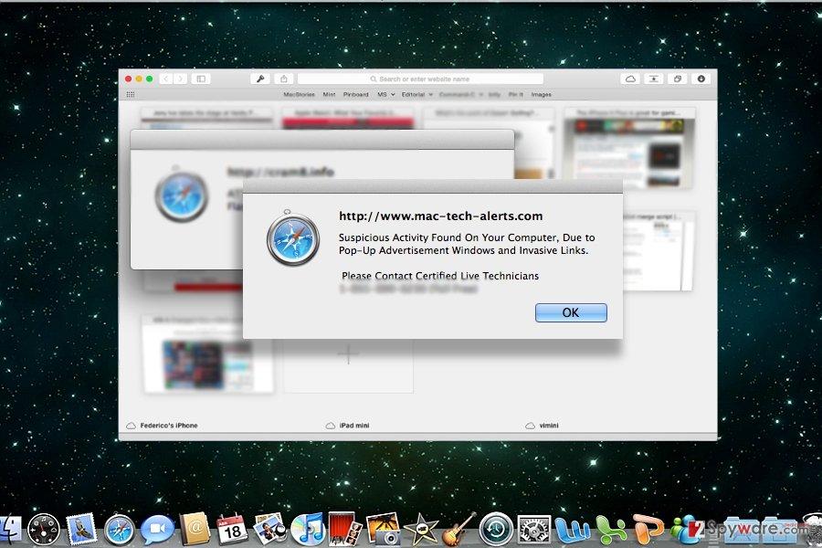 "The image illustrating ""Adobe Security Damaged"" scam"