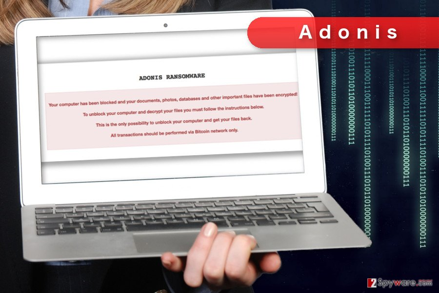 The image of Adonis ransomware virus