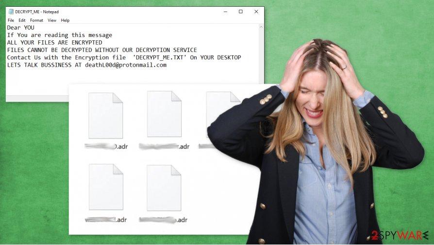 Adr ransomware virus