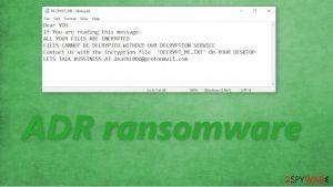 Adr ransomware
