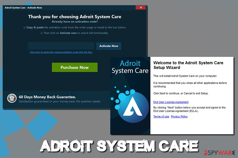 Adroit System Care ads