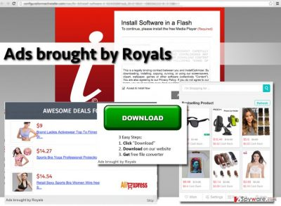 Ads brought by Royals virus displays web ads