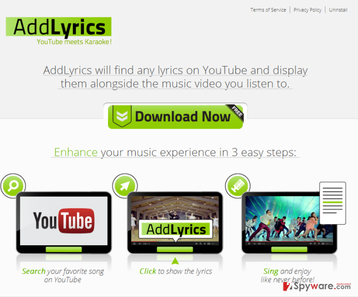 Ads by AddLyrics snapshot