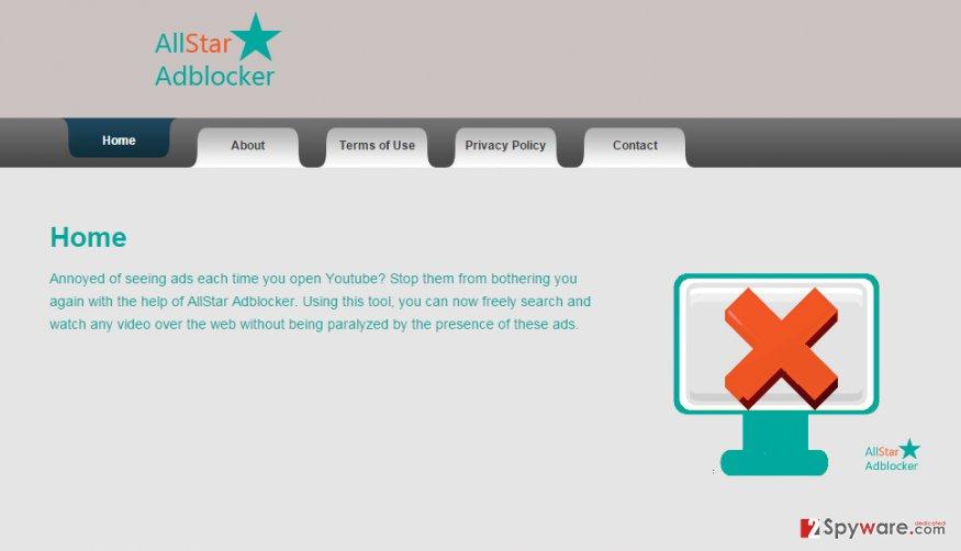 Ads by AllStar Adblocker snapshot
