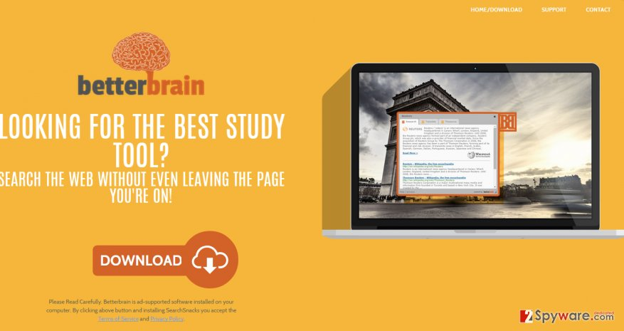 Ads by BetterBrain snapshot