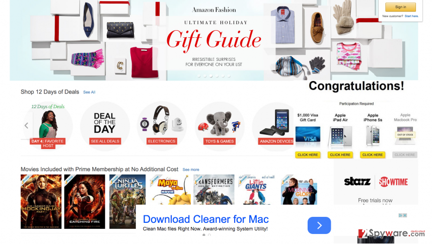 The picture showing CofeFeed ads on shopping websites