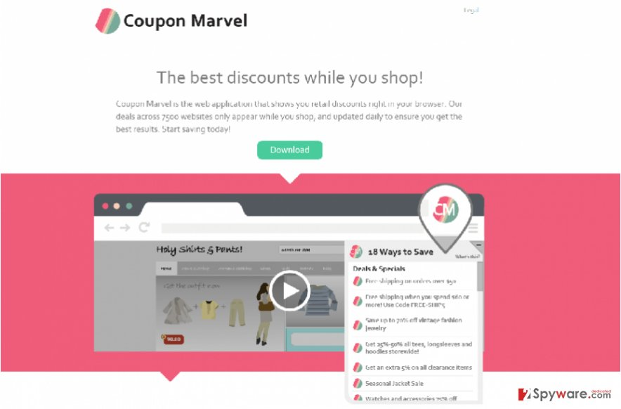 Ads by Coupon Marvel snapshot