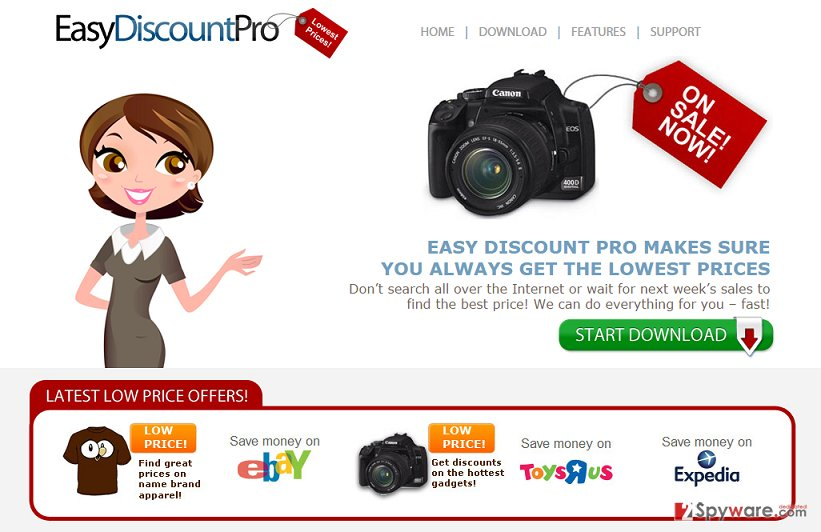 Ads by Easy Discount Pro snapshot