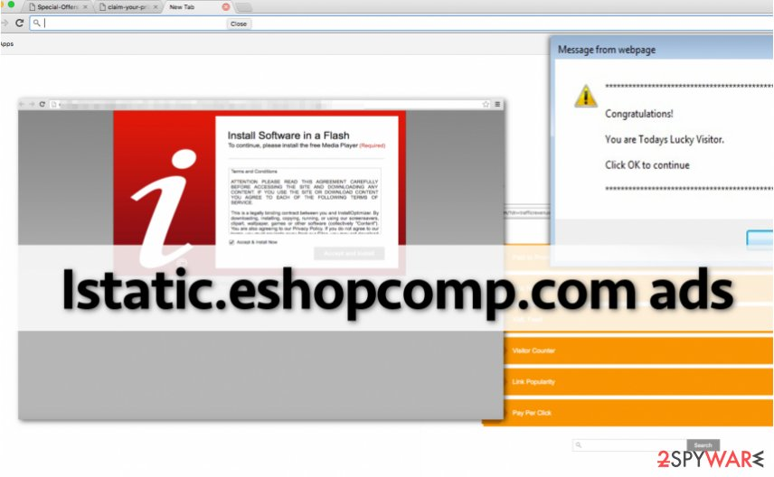 Istatic.eshopcomp.com hijacks computer and displays annoying ads