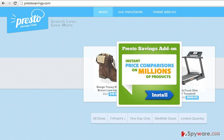 Ads by PrestoSavings snapshot