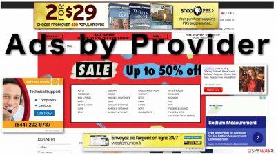 Provider Ads virus illustrated