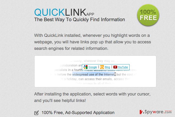 Ads by QuickLink snapshot