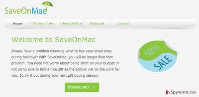 SaveOnMac ads