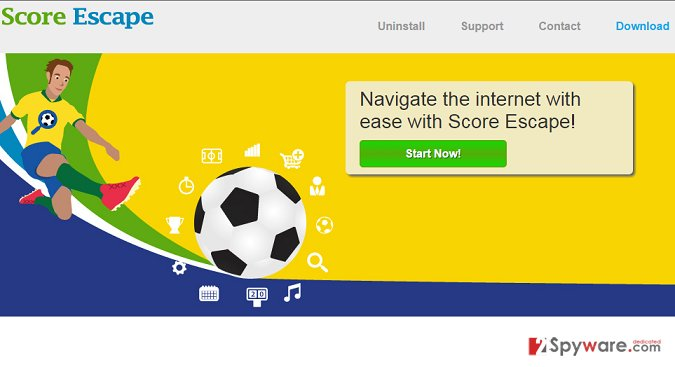 Ads by Score Escape snapshot
