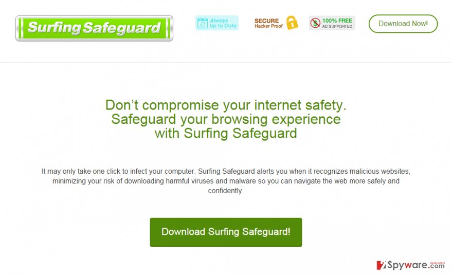 Ads by Surfing Safeguard snapshot
