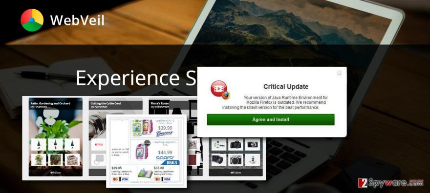 Webveil Browser ads