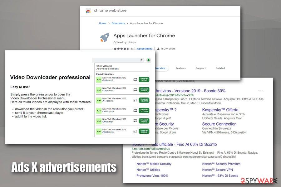 Ads X associated programs