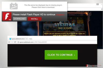 The example of Adsbtrack.com virus