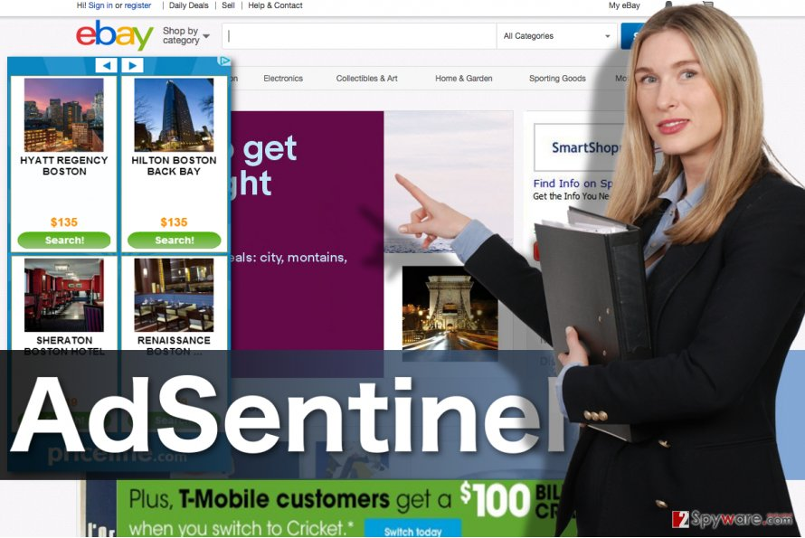 Image displaying AdSentinel ads