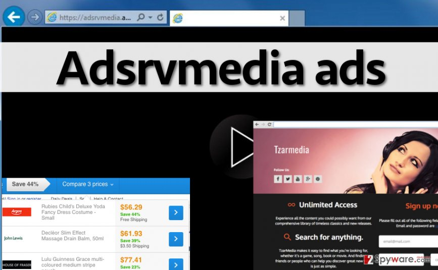Examples of ads by Adsrvmedia