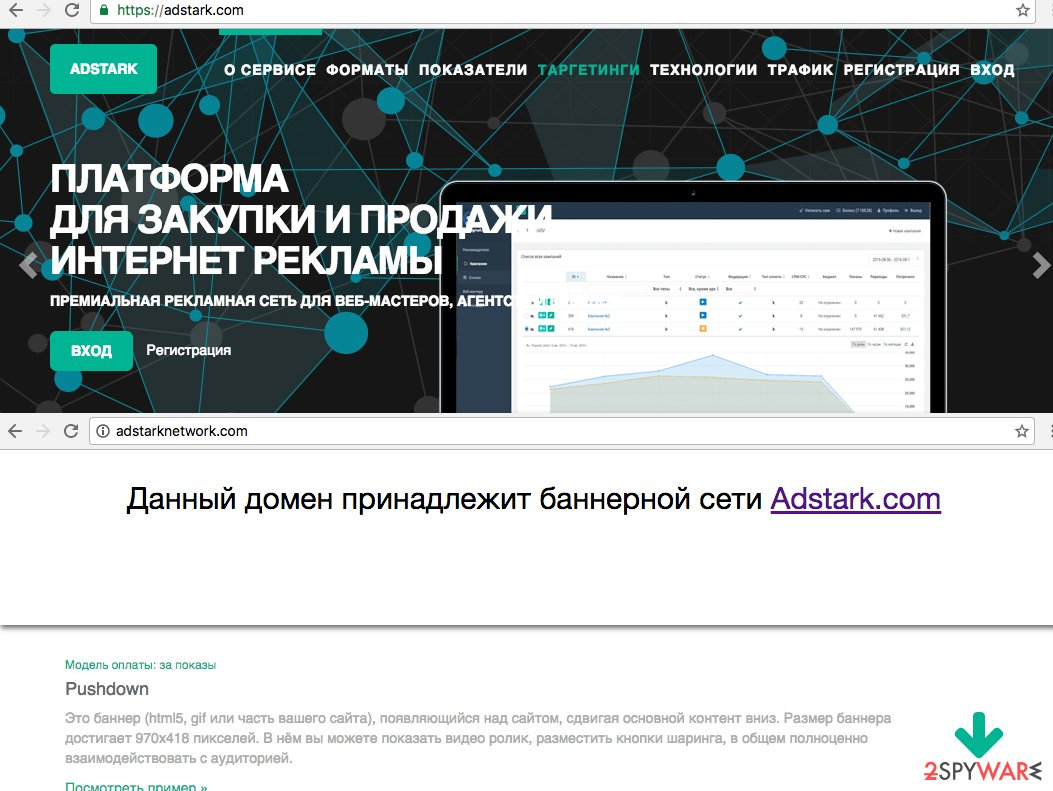 Adstarknetwork.com website