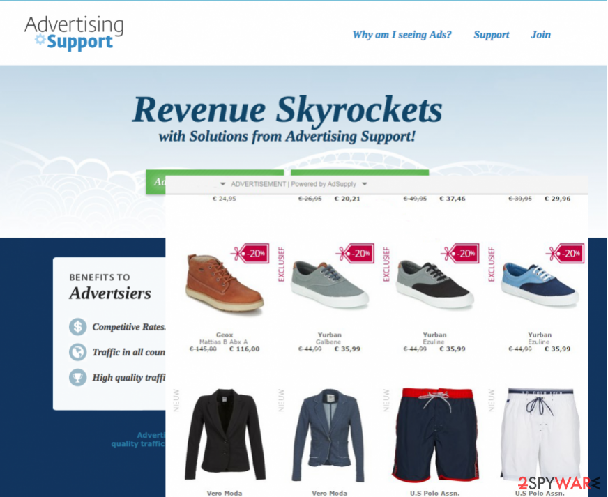 Image of Adsupply redirect website
