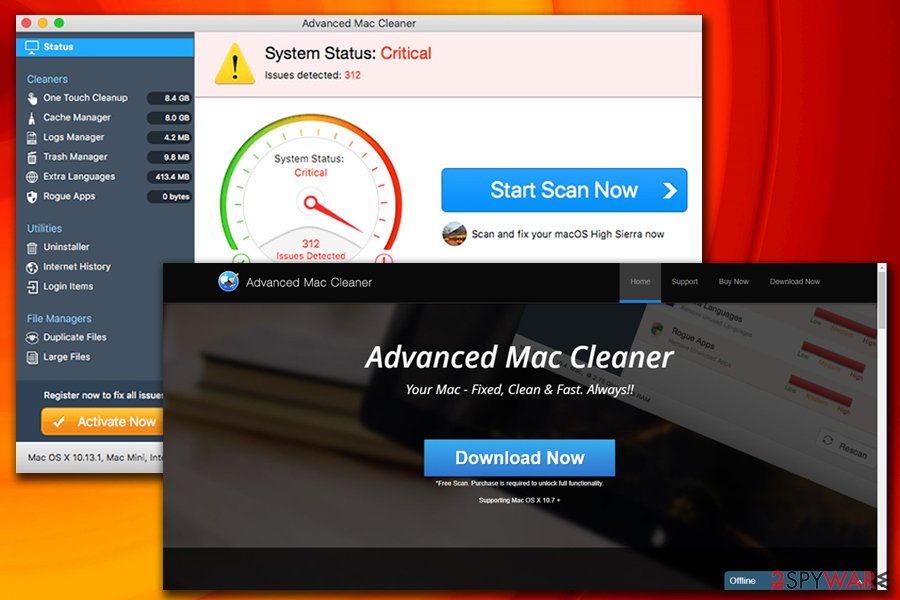 Advanced Mac Cleaner potentially unwanted program