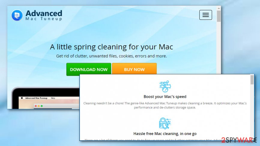 Advanced Mac Tuneup virus