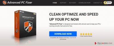 Screenshot of Advanced PC Fixer virus