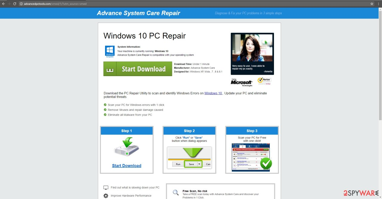 The picture showing Advancedpctools.com