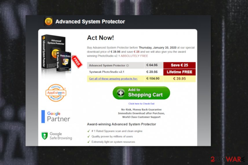 AdvancedSystemProtector virus