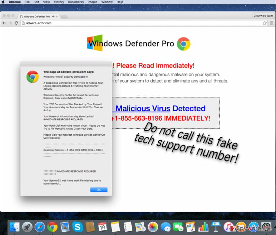 Adware-error.com virus page
