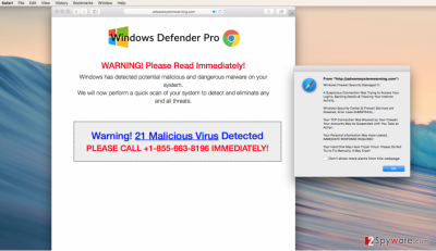 Adwaresystemwarning.com scam warnings