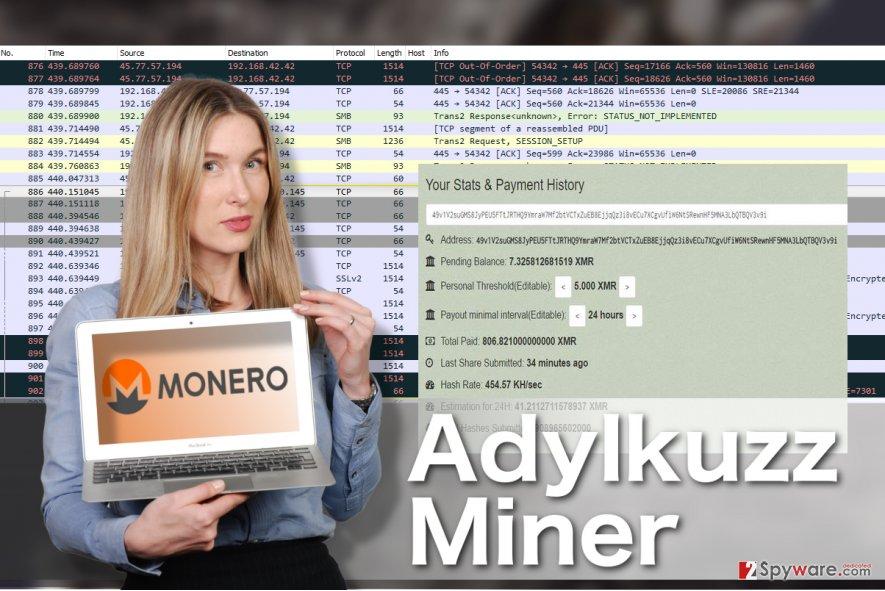 Adylkuzz Miner virus illustration