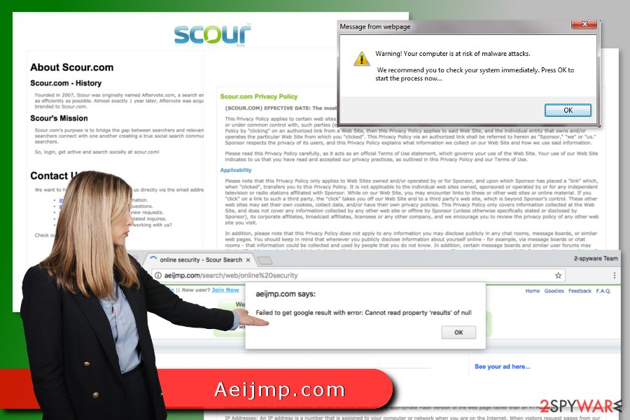 The picture of Aeijmp.com virus