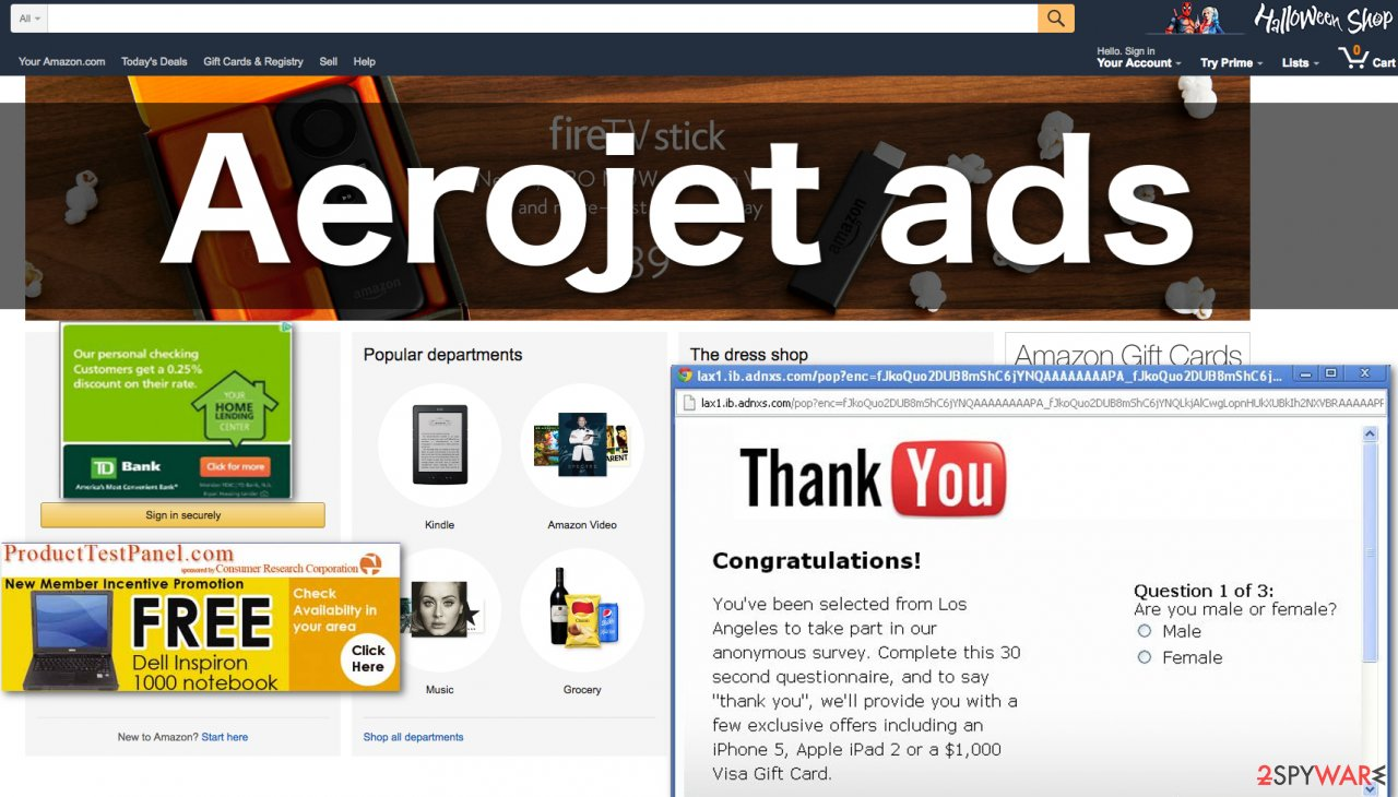 Example of Aerojet ads