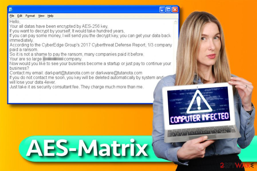 AES-Matrix ransomware virus
