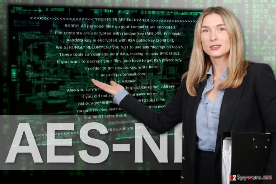 The image of AES-NI ransomware
