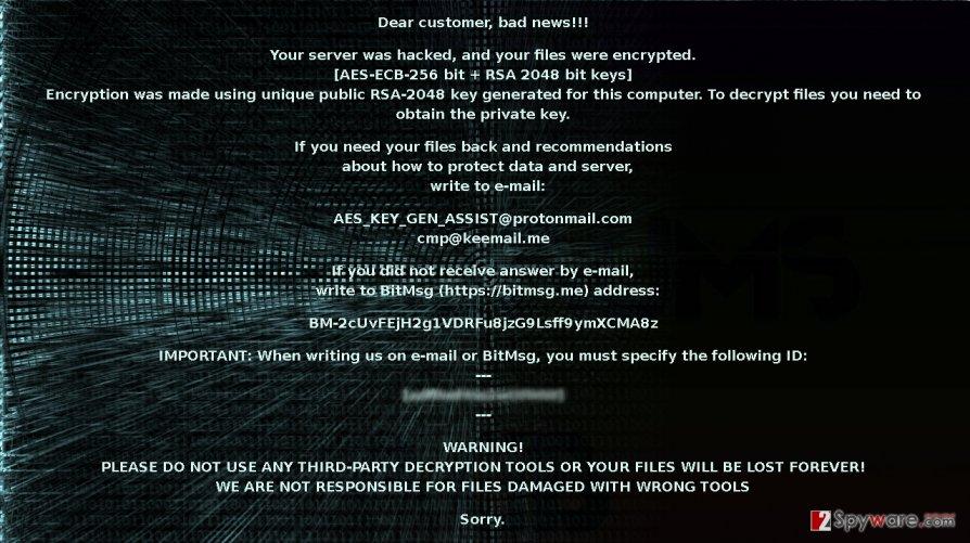 The screenshot of AES_KEY_GEN_ASSIST