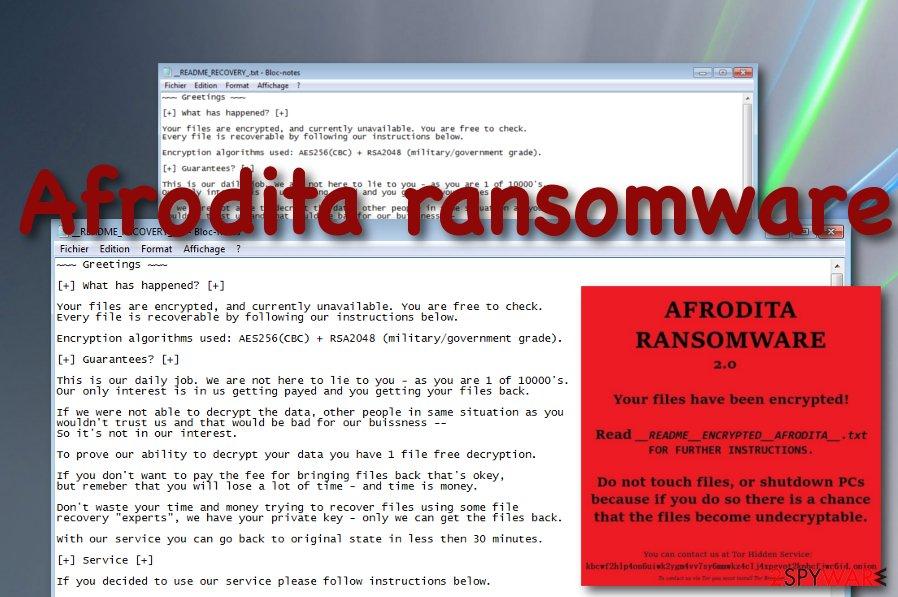 Afrodita ransomware virus