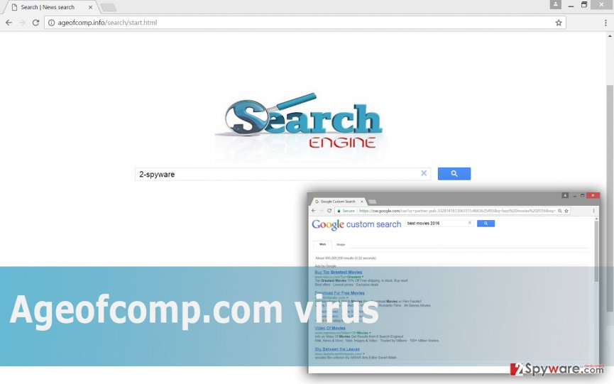 The picture of Ageofcomp.com virus
