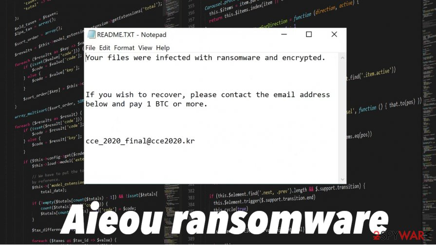 Aieou ransomware infection