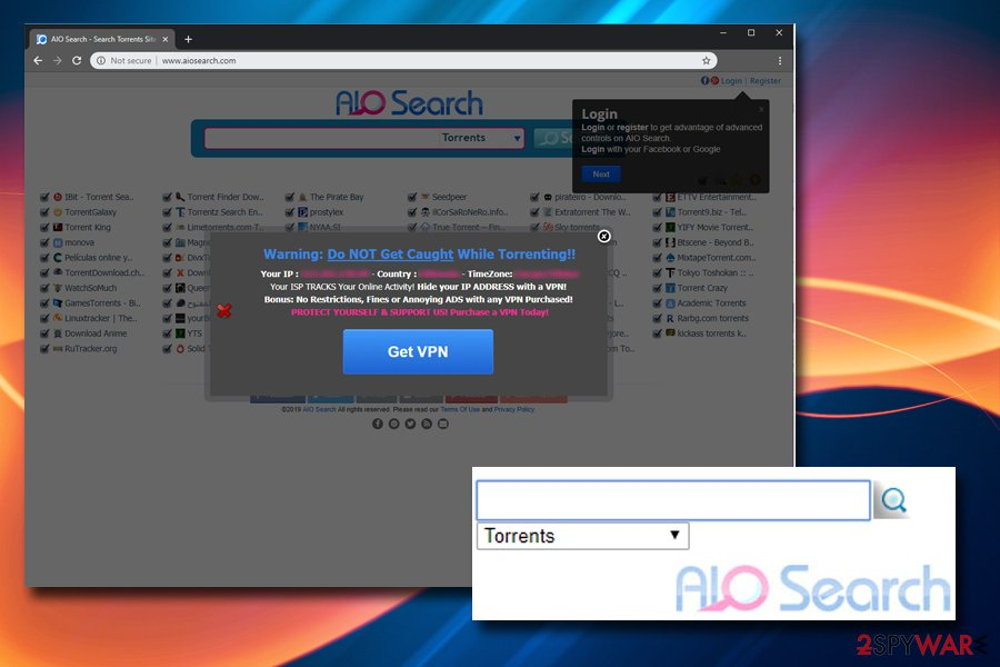 Aiosearch offers VPN
