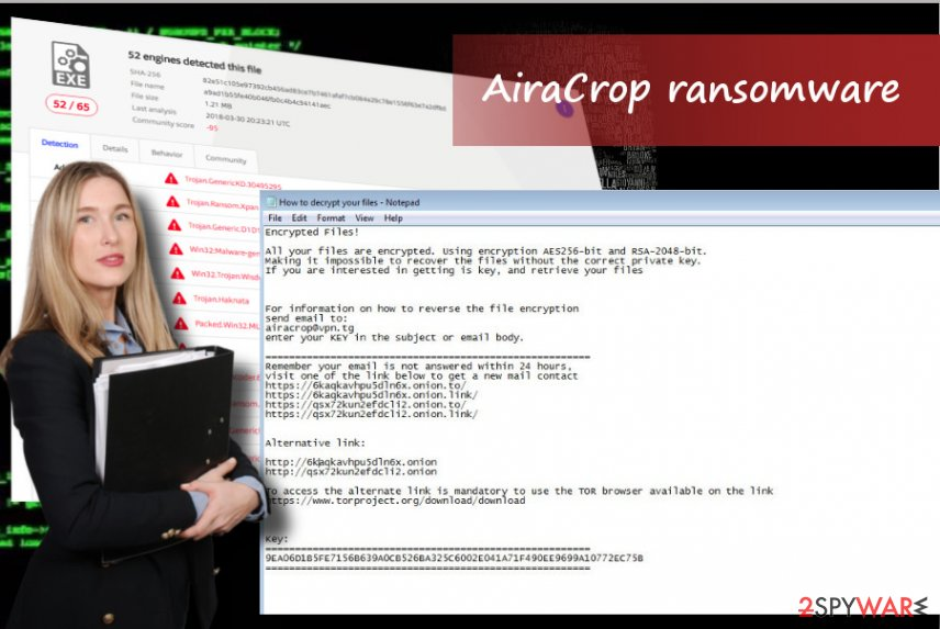 AiraCrop ransomware virus